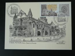 Carte Maximum Card Ducourtioux Cathédrale Notre Dame De Poitiers Medieval 86 Vienne 2007 - Churches & Cathedrals