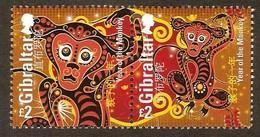 Gibraltar 2016 Micheln°  1715-1716*** MNH Année Du Singe Year Of The Monkey - Gibraltar