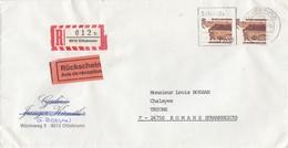 LETTRE. COVER.  GERMANY. 1989. REGISTERED + AVIS DE RECEPTION OTTOBRUNN TO FRANCE.  Mi 1348 A MeF PAAR 130€/    2 - Ohne Zuordnung