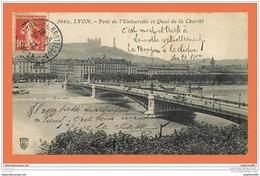 A585 / 213 69 - LYON Pont De L'Université Et Quai De La Charité - Frankreich