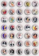 35 X Billie Holiday Music Fan ART BADGE BUTTON PIN SET 2 (1inch/25mm Diameter) - Music