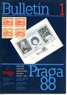 Bulletin PRAGA 88,lot 3 Bulletins Officiels De L'exposition Mondiale De Timbres Poste , Pages En Couleurs Sur Papier Pho - Timbres