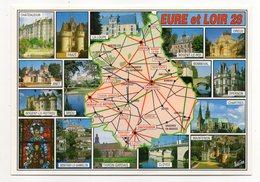 EURE ET LOIR--Carte Géographique (Frazé,Epernon,Brou,Montigny Le Gannelon,Cloyes,Anet,Dreux,Chartres,Bonneval,La Loupe.. - Otros Municipios