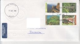 BRAZIL  TRAINS On Circulated Cover - Registered Shipping! Envoi Enregistre! - Treni