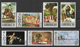 LIBERIA 1969 QUADRI DIVERSI YVERT. 465-472 USATA VF - Liberia