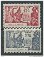 Nlle Calédonie N° 173 / 74 X Exposition Internationale De New York, La Paire Trace De Charnière Sinon TB - Nouvelle-Calédonie