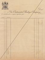 1893 The Continental Bodega Company Vins D'espagne Et Du Portugal - Belgium