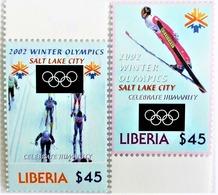 * Liberia 2002**Mi.4617-18 Winter Olympics , Salt Lake City , MNH [17;99] - Winter 2002: Salt Lake City