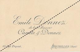 1893 Carte Chromo Liyhographie émile  Donnez Bruxelles - Belgium