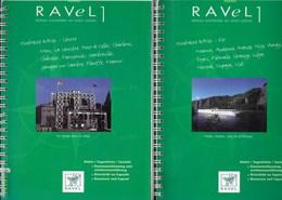 Lot De Deux Guides Vélo. Ravel Namur, Andenne, Huy, Seraing, Liège, Herstal, Oupaye, Visé, Mons, La Louvière, Namur... - Cultuur