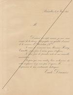 1893 Chromo Lithographie Imprimerie Houben Carette Donnez Transmission Et Association - Belgium
