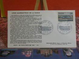 Usine Marémotrice (35) Saint Servan - 3.12.1966 FDC 1er Jour - Coté 2€ - FDC