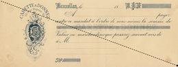 1893 Chromo Lithographie Imprimerie Lettre De Change Carette Donnez - Belgique