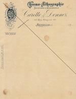 1893 Chromo Lithographie Imprimerie Lettre De Change Carette Donnez - Belgium