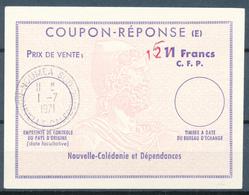NOUVELLE-CALEDONIE - NOUMEA - 1971 , Type X  - 15 On 12 On 11 Francs C.F.P. -  COUPON REPONSE (E) -  Reply Coupon , IRC - Nouvelle-Calédonie