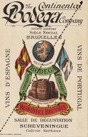 1893 Carte The Continental Bodega Company Bruxelles Vin D'espagne Et Du Portugal - Belgium