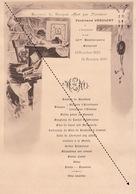 1899 Menu Illustré Pour Ferdinand Vervloet Notaire - Menükarten