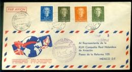 Nederland 1952 Openingsvlucht Amsterdam-Mexico VH 400b - 1949-1980 (Juliana)