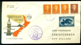 Nederland 1953 KLM-envelop Airrace (Bride-flight) Amsterdam-Christchurch VH 414a - 1949-1980 (Juliana)