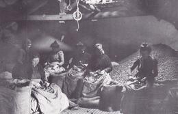"""Carte Reproduction BELVES (24) METIER: LES ENOISEUSES En 1903 - Collection Carcenac -  Femmes Au Travail """"à La"""" NOIX - France"""