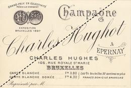 1893 Champagne Charles Hughot à épernay Bruxelles - Belgium