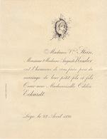 1898 Mariage Stein Kessler Eckardt Liège - Mariage