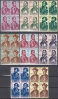 SPANIEN  1346-1353,, Postfrisch **, Mint, 4erBlock, Entdecker- Und Eroberungsgeschichte Amerikas 1962 - 1961-70 Unused Stamps