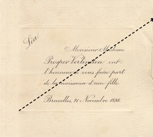 1898 Naissance De Léa Prosper Verlinden - Naissance & Baptême