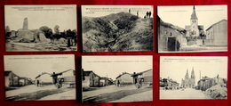LOT 6 CPA MILITARIA GUERRE 1914-18 MARNE 51 : HERPONT ST REMY SUR BUSSY TAHURE L' EPINE Près CHALONS - Non Classificati