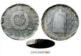 2 Sols Aux Balances 1793 R (Orléans) FAUTEE (double Frappe) - 1789-1795 Monnaies Constitutionnelles