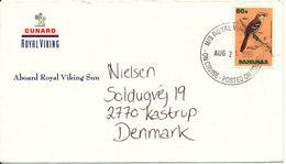 Bahamas Ship Cover Posted On Board M/S Royal Viking Sent To Denmark 21-8-1995 Nice Single BIRD Stamp - Bahamas (1973-...)