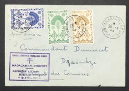 Madagascar Lettre France Libre Forces Aériennes Francaises Libres 1944  1 Ere Liaison Postale - Brieven En Documenten