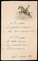 Jacht  Spa 3 Octobre 1897      18 X 11 CM  Is Geplooid - Menus