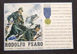 Militaria - Locandina Propaganda RSI - Medaglia D'Oro Rodolfo Psaro - 1943 - Documenti