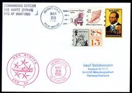 """US Navy, USS""""NIMITZ"""" ( CVN-68 ) 1996, 3 Cachets + Postmark, LOW PRICE !! Look Scan, RARE !! 2.3-48 - Boten"""