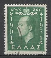 Greece 1952. Scott #545 (U) King Paul I * - Oblitérés