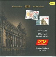 Romania 2012 / 150 Years Romanian Poste / Philatelic Album With Special Block And Special FDC - Post