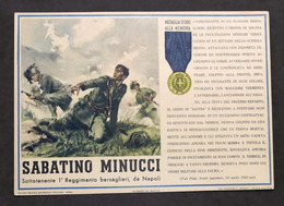 Militaria - Locandina Propaganda RSI - Medaglia D'Oro Sabatino Minucci - 1943 - Documenti