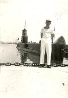 ( BATEAU DE GUERRE )( SOUS MARIN  ) ( ANDROMEDE )  ( MILITAIRES ) ( METIERS )( MARINS )JUIN 1957 - Boats