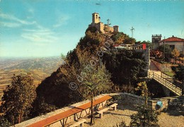 Cartolina Repubblica Di San Marino Prima Torre E Panorama - Saint-Marin