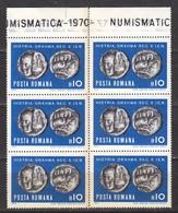 Rumänien; 1970; Michel 2850 **; Münzen, 6x10 Bani - 1948-.... Republics
