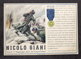 Militaria - Locandina Propaganda RSI - Medaglia D'Oro Nicolò Giani - 1943 - Documenti