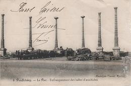 AK Pondichery Pondicherry Puducherry புதுச்சேரி பாண்டிச்சேரி Pier Port Indien British India Inde Indie भारत गणराज्य - India