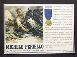 Militaria - Locandina Propaganda RSI - Medaglia D'Oro Michele Periello - 1943 - Documenti