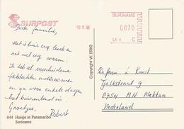 "Suriname 1996 Paramaribo Post Office Meter Francotyp-Postalia ""EFS3000/NEF300"" Slogan Without Town Name Viewcard - Suriname"