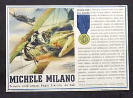 Militaria - Locandina Propaganda RSI - Medaglia D'Oro Michele Milano - 1943 - Documenti