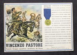 Militaria - Locandina Propaganda RSI - Medaglia D'Oro Vincenzo Pastore - 1943 - Documenti
