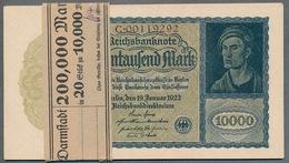 Pick 72 - Ro 69b 10.000  Mark 1922 * UNC * Impression Du Reichs, SérieC - 1918-1933: Weimarer Republik