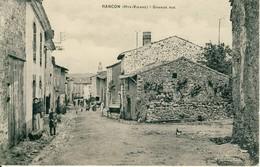 Rancon  (Hte-Vienne)  Grande Rue   Cpa - Rilhac Rancon