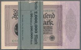 Pick83a - 100 000 Mark Ro 82a Impression Du Reichs ** UNC ** - 1918-1933: Weimarer Republik
